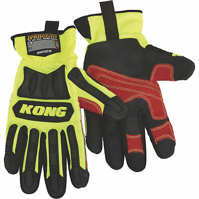 Ironclad KONG Men's High Visibility Rigger Impact Gloves- Lime, 3XL