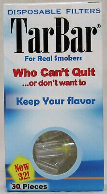 TarBar Cigarette Filters Disposable Tar Bar Tips Nicotine (1 Box / 32 Filters)