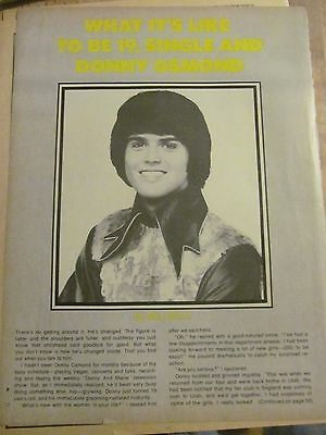 Donny Osmond, The Osmonds Brothers, Three Page Vintage Clipping