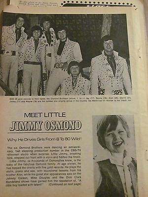 Jimmy Osmond, Osmonds Brothers, Three Page Vintage Clipping