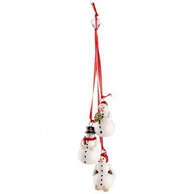 Villeroy & Boch MY CHRISTMAS TREE Ornament:  Trio of Snowmen # 6653