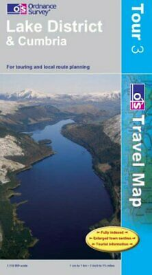 Lake District and Cumbria (OS Travel Map... by Ordnance Survey Sheet map, folded