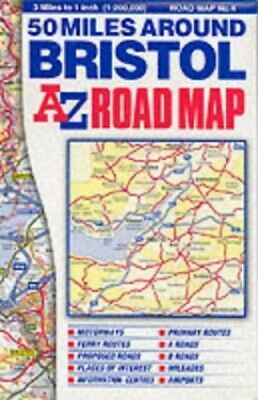 50 Miles Around Bristol Road Map by Geographers' A-Z Map Compa Sheet map, folded