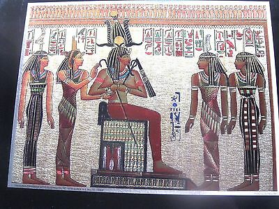 HANGING for WALL  EGYPTIAN CLEOPATRA  COLOR GOLD PRINT