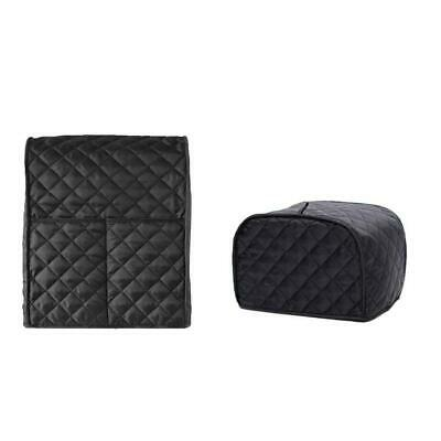 2-Slice Bread Toaster Mixer Cover Bakeware Protector Dust-Proof Black Grid