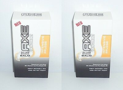 (100ml=4,95€) 2x Axe Skin Contact After Shave Balm Intensive Pflege , 2x100ml