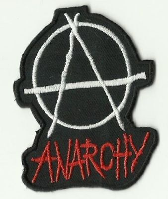 écusson ECUSSON PATCHE PATCH THERMOCOLLANT ANARCHIE ANARCHY DIM. 7,2 X 5,5 CM