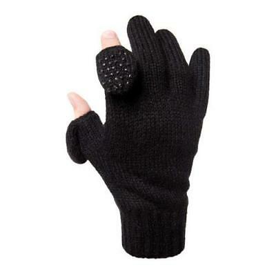 Freehands Men's Ragg Wool Knit Thinsulate Gloves Small/Medium, Black #31121MS