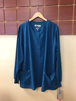 NEW Lot Of 5 3XL Solid Scrub Jackets With Grey's Anatomy & Wink HP NWT