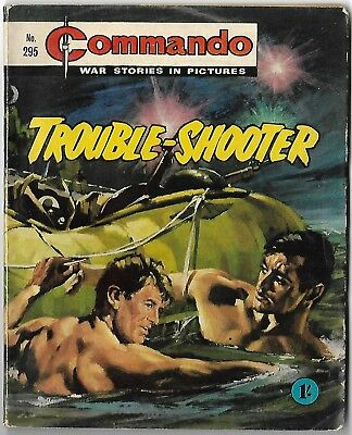 """Dated 1967. Vintage COMMANDO War Picture Comic # 295. """"Trouble - Shooter"""""""
