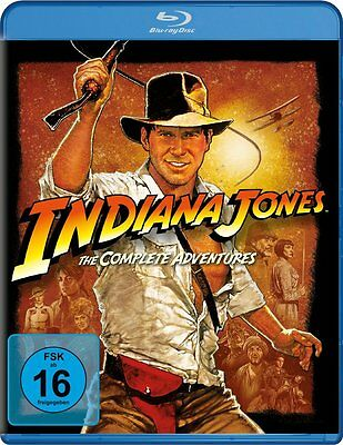 INDIANA JONES 1 2 3 4 COMPLETE ADVENTURES Collection HARRISON FORD BLU-RAY BOX