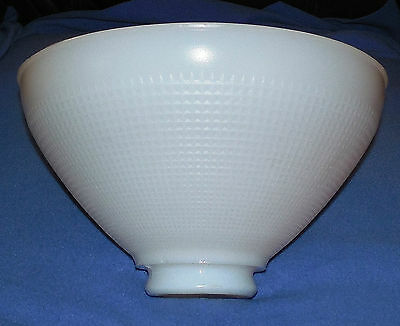 "Vintage 10"" Corning Milk Glass Torchiere Lamp Globe/ Shade 824160- 2-3/4"" Fitter"