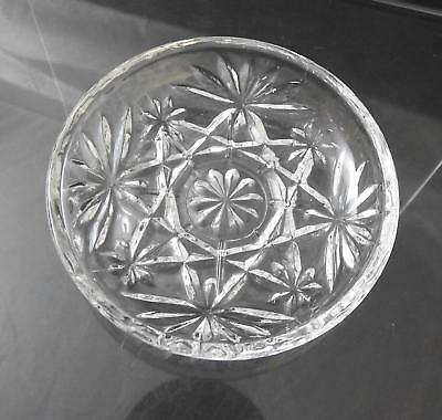 "Vintage Anchor Hocking Coaster Prescut Clear Glass Oatmeal Star Fan 3 3/4"" W20"