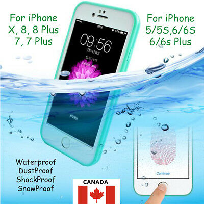 Waterproof Shockproof Hybrid Rubber TPU Case Cover For iPhone 5S 6/6s 7 8 Plus X