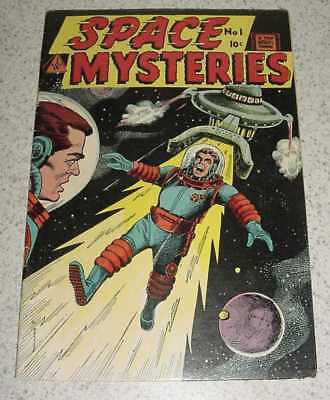 Vintage Silver Age 1958 Top Quality Comic Book Space Mysteries # 1 First Issue
