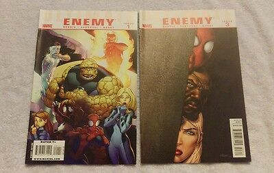 Marvel Comics - Ultimate Enemy Issues #1 & #3