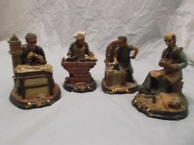 Figurines by K's Collections/ Shoemaker-Barber-Baker-Cook