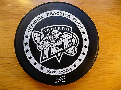 USHL Indiana Ice Team Official Practice Logo Hockey Puck Collect Pucks
