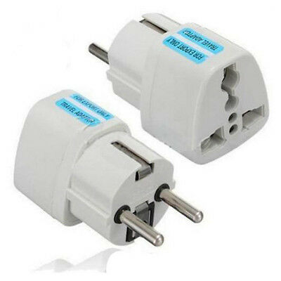USA US UK AU To EU Europe Travel Charger Power Adapter Converter Wall Plugs NB