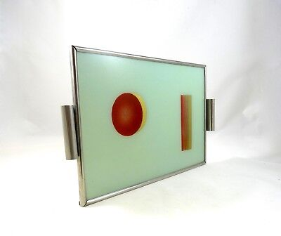 Very Rare German Suprematism Bauhaus Geometric Design Tray Art Deco 1925