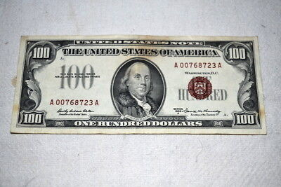 1966A United States Note $100 Red Seal Very Nice 1966 A