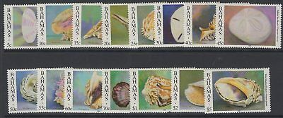 BAHAMAS SG1058/72(NO A No's) 1996 SEA SHELLS SET TO $5 MNH