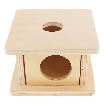 Kids Educational Learning Toy Montessori Wooden Matching Stand Box Cylinder