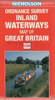 Ordnance Survey Inland Waterways Map of Great Britain by Nicholson Sheet map The