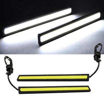 Waterproof 12V LED COB Car Auto DRL Driving Daytime Running Lamp Fog Lights 17cm