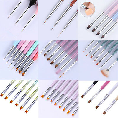Acrylic Nail UV Gel Liner Brush Painting Pen Cuticle Cleaning Nail Art Pen Tool