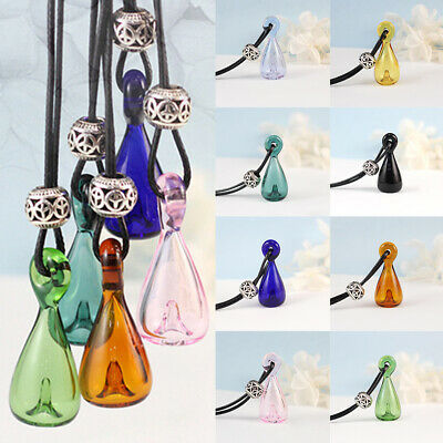 Glass Bells Bottle Diffuser Pendant Essential Oil Perfume Necklace Aromatherapy
