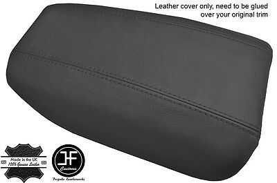 Dark Grey Real Leather Armrest Cover Fits Volvo S80 1999-2006