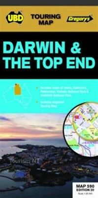 Darwin & the Top End 590 r/v (r) (Map), UBD Gregorys, 9780731929962