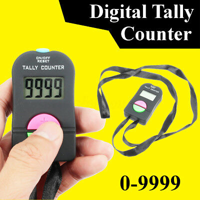 Digital Hand Tally Counter Electronic Manual Clicker Golf Gym Security Running
