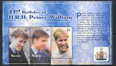 NEVIS SGMS1803 2003 21st BIRTHDAY OF PRINCE WILLIAM MNH