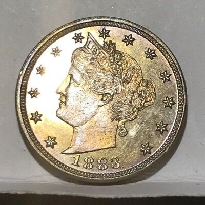 """1883 5c PROOF Liberty """"V"""" Nickel  *** with NO CENTS"""