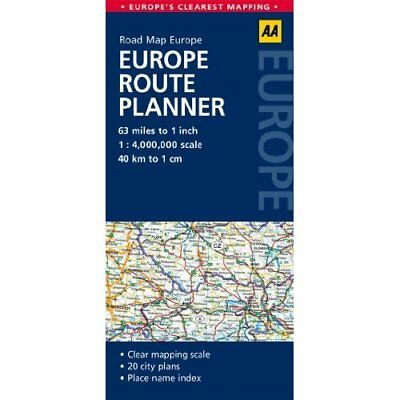 AA Road Map Europe Europe Route Planner Automobile Association (Great Britain)