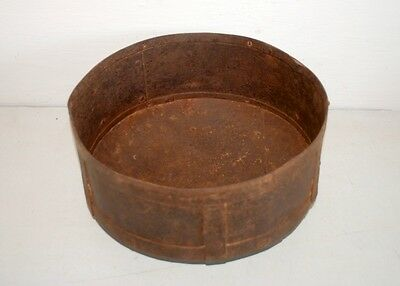 1800's Antique Old Iron Hand Forged Tribal Green Vegitable Bowl Pot