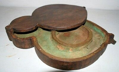 1800's Antique IndianRare Original Wooden Hand Crafted Indian Woman Jewelry Box
