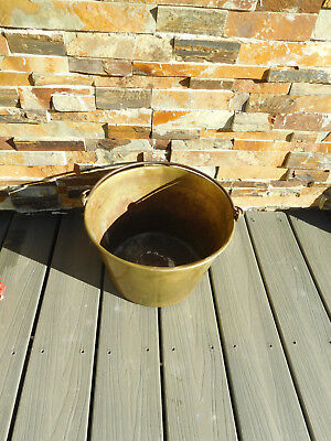 VTG. Shabby  1850's H.W.HAYDEN BRASS BUCKET PAIL w/ Repairs ~FREE SHIPPING~