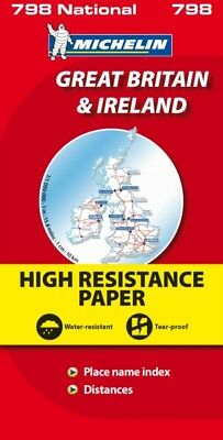 Great Britain and Ireland High Resistance (Michelin National Maps. 9782067137998