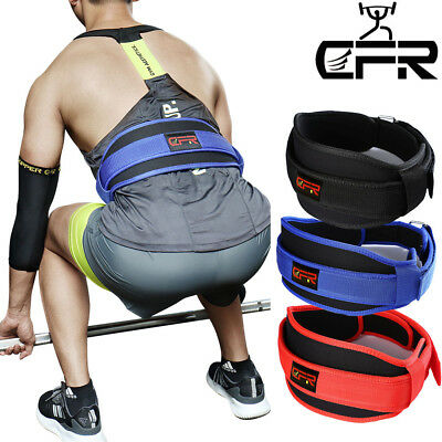 Weight Lifting Belt Back Support Power Gym Training Work Fitness Lumber Pain CFR