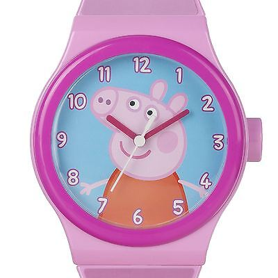 Peppa Pig Giant Wall Clock Straps Kids Childrens Pink 100% Official