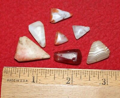 (7) Neolithic Triangle Pendants