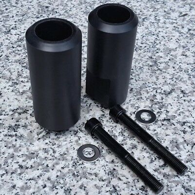 1996-2008 Yamaha YZF600 YZF600R YZF 600 600R BLACK NO-CUT FRAME SLIDERS