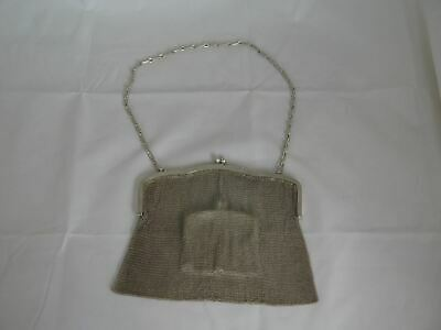 Awesome Antique 800 Silver Berlin Germany Large Mesh Purse