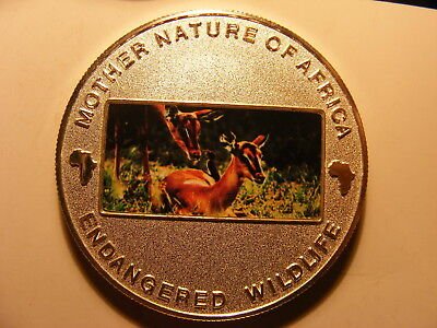 Malawi 10 Kwacha, 2004, Multicolor Deer and fawn, Silver Plated Proof