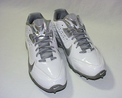 Nike Air Women's SpeedLax Lacrosse Shoes, Patent Synthetic Upper, White, 10, New