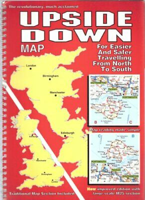 Upside Down Map Great Britain by Sims, Ashley Book The Fast Free Shipping