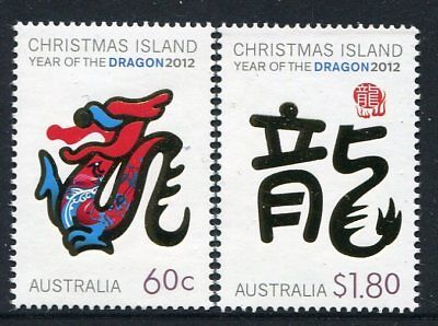 2012 Christmas Island Year of The Dragon - MUH Complete Set